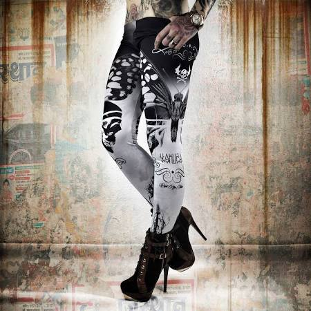 Yakuza Leggings Moth LEB 8135