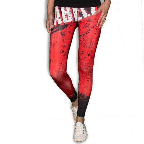 Label 23 Leggings Train Hard schwarz/rot