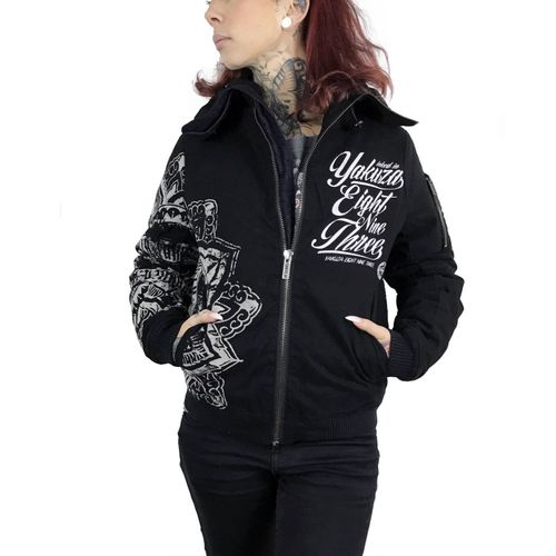 Yakuza Damen Jacke GJB 9141 Inked in Blood black und dusky green