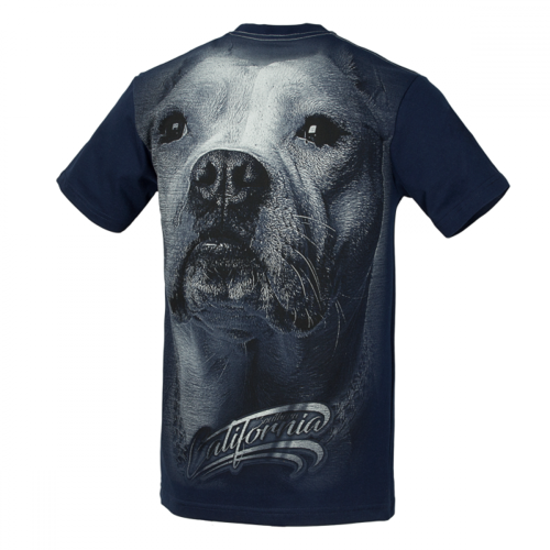 PitBull Westcoast Herren Shirt California Dog dark navy