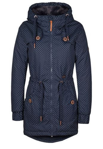 Alife and Kickin Damen Winterjacke Charlotte A Coat marine dots